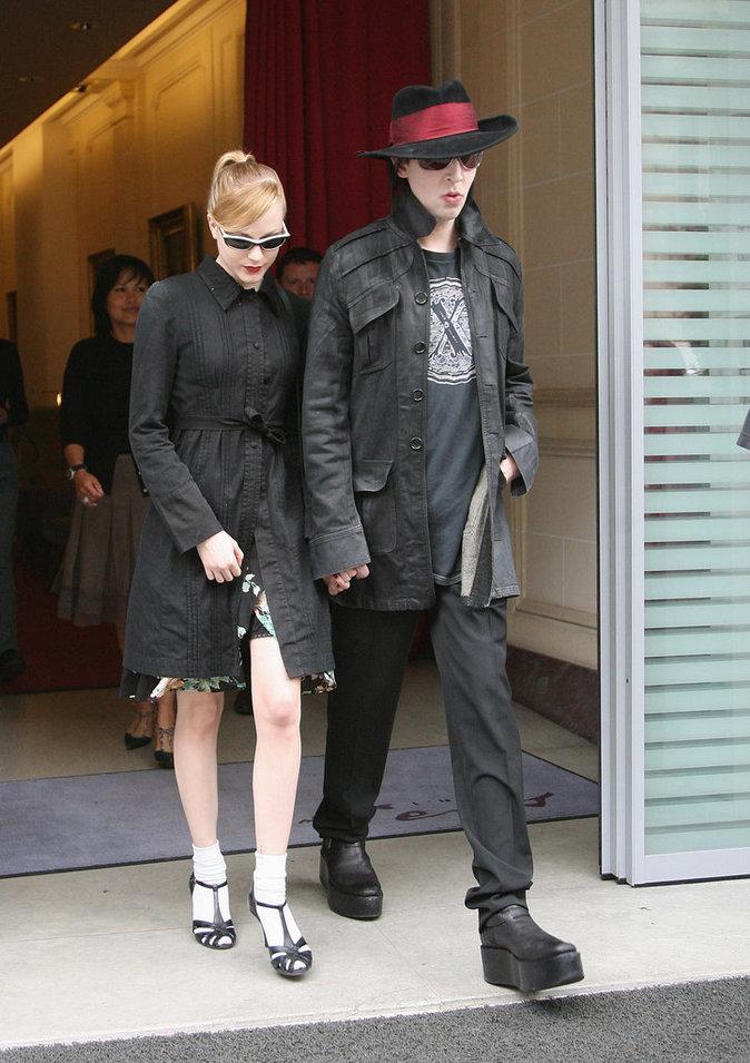 Evan Rachel Wood et Marilyn Manson