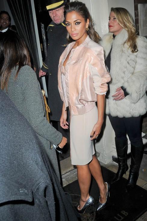 Nicole Scherzinger à l'after-party des Brit Awards organisée à Londres le 19 février 2014