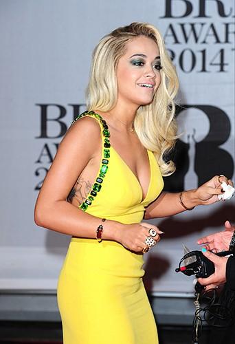 Rita Ora à Londres le 19 février 2014