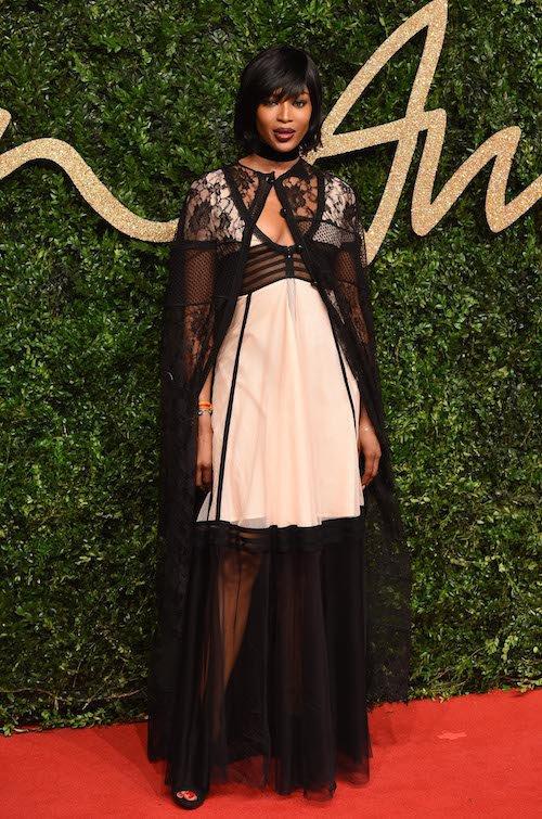 Naomi Campbell aux British Fashion Awards, à Londres, le 23 novembre 2015