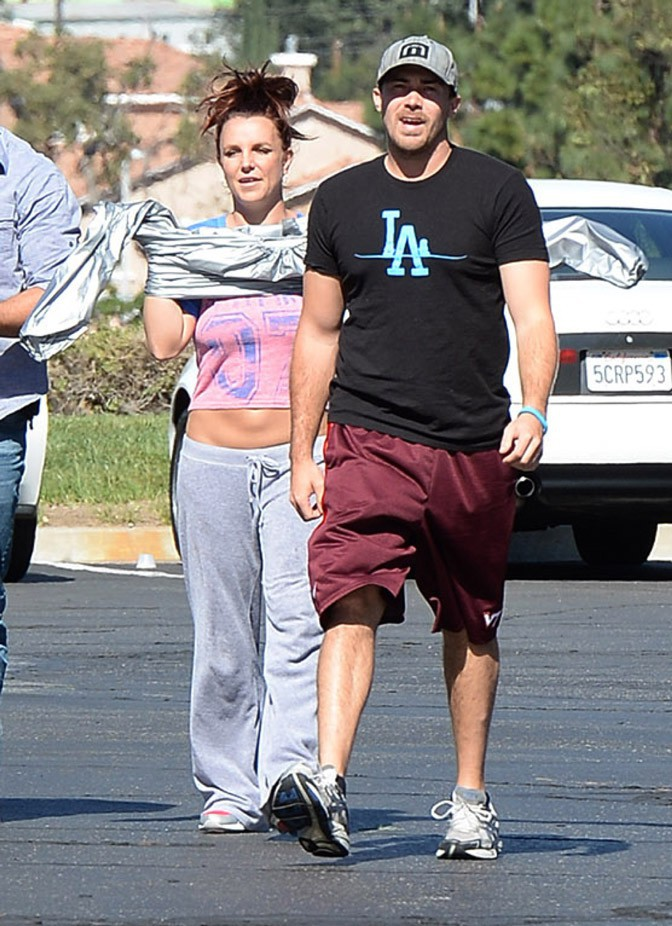 Britney Spears avec son boyfriend David Lucado à Thousand Oaks le 12 mars 2014