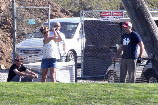 Britney Spears avec son nouveau boyfriend à Los Angeles le 15 mars 2013