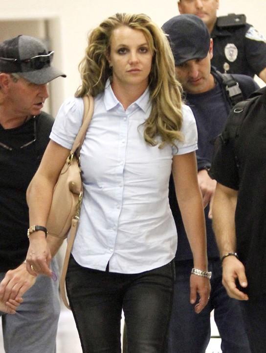 Britney Spears à son arrivée à la Nouvelle-Orléans le 28 mars 2013