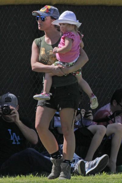 Britney Spears et Jordan Federline lors d'un match de foot à Los Angeles, le 9 mars 2014.