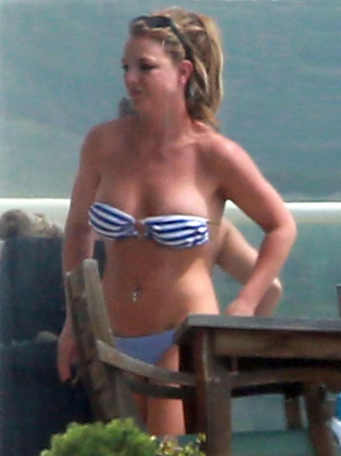 Britney Spears chez des amis à Malibu, le 25 mars 2013.
