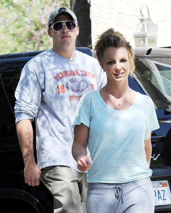 Britney Spears et David Lucado à Calabasas le 16 mars 2013