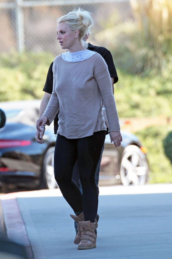 Britney Spears à Los Angeles le 25 janvier 2014
