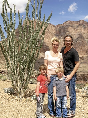Britney Spears planplan avec sa petite famille