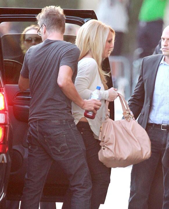 Britney Spears à son arrivée au Jimmy Kimmel Live le 12 septembre 2012