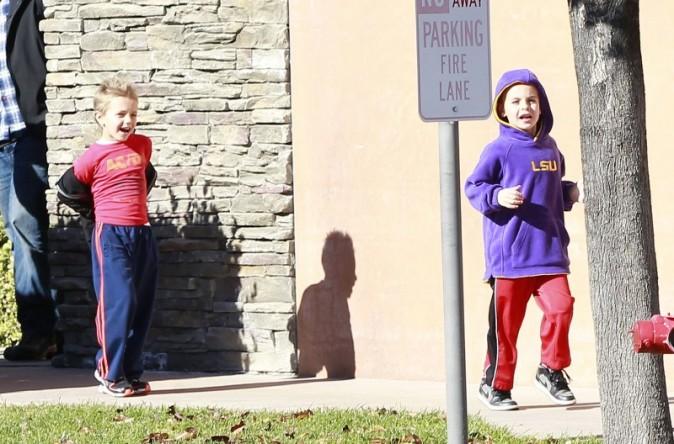 Preston et Jayden, les fils de Britney Spears à Thousand Oaks, le 27 décembre 2012.