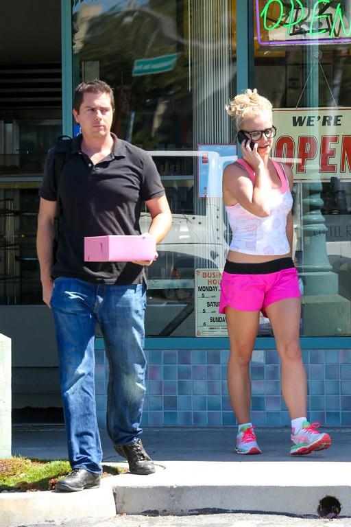 Britney Spears à Calabasas le 24 sepetmbre 2015