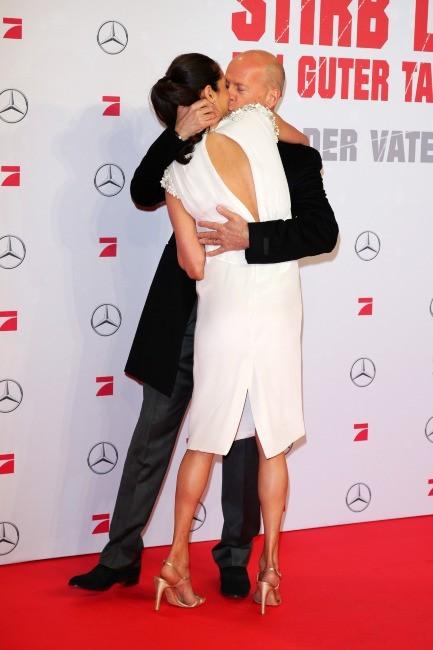 Bruce Willis et sa femme Emma le 4 février 2013 à Berlin