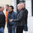 Bruce Willis en tournage à Paris le 10 octobre 2012