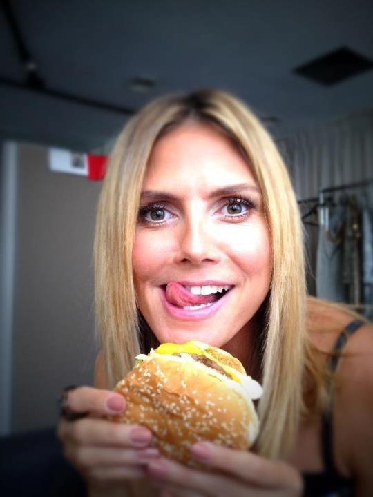 Heidi Klum et son burger