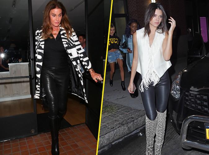 Caitlyn et Kendall Jenner : Le pantalon en cuir, c'est une histoire de famille !