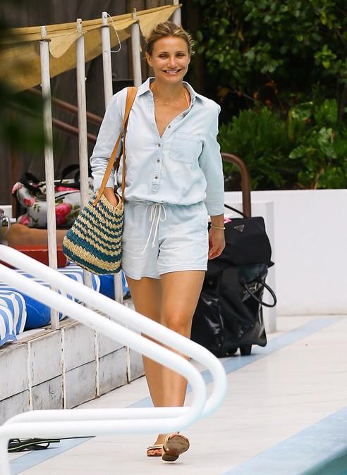 Cameron Diaz à Miami le 7 juillet 2014