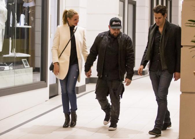 Cameron Diaz : Entourée de Benji et Joel Madden, elle a le sourire aux lèvres !