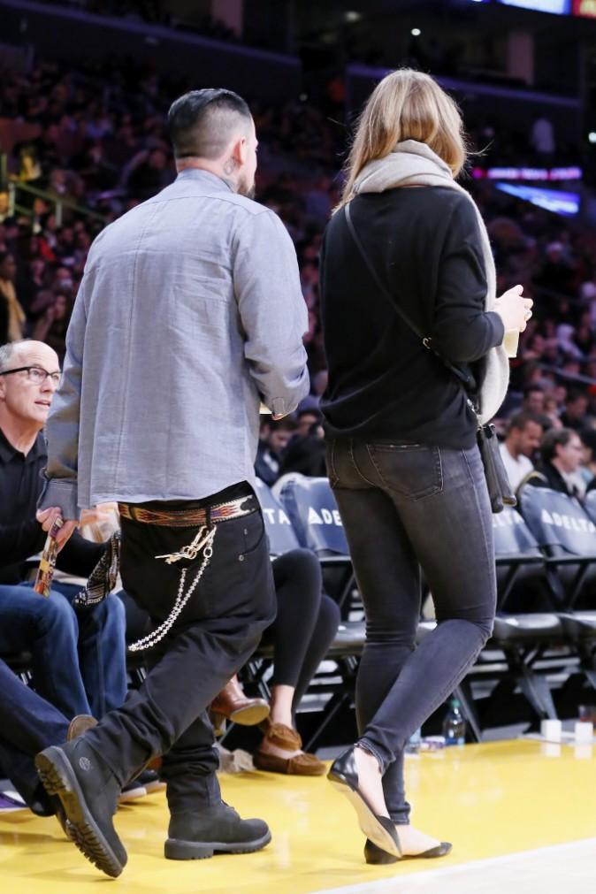 Photos : Cameron Diaz et Benji Madden : baisers passionnés sur le parquet des Lakers !