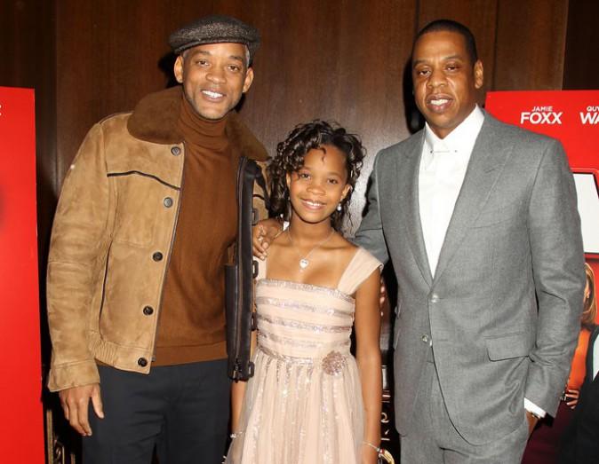 Will Smith, Quvenzhane Wallis et Jay-Z le 7 décembre 2014
