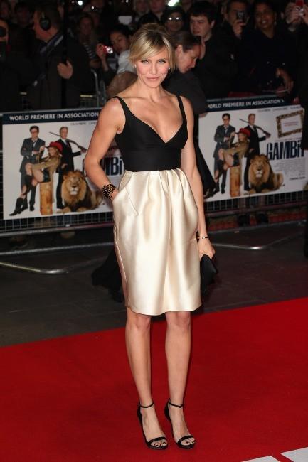 Cameron Diaz lors de la première du film Gambit à Londres, le 7 novembre 2012.