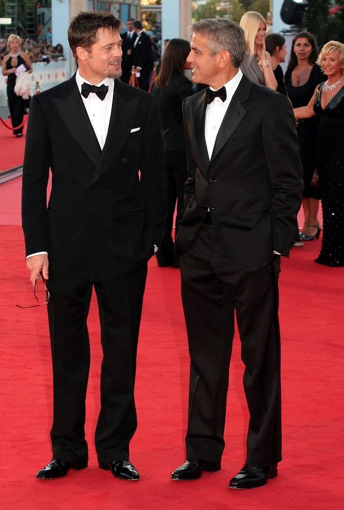 Photos : Brad Pitt et George Clooney sont amis