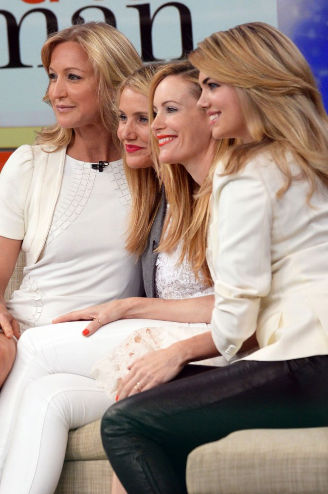 Cameron Diaz, Leslie Mann et Kate Upton sur le plateau de Good Morning America à New York, le 23 avril 2014.