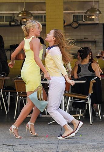 Cameron Diaz et Leslie Mann à New-York le 7 mai 2013