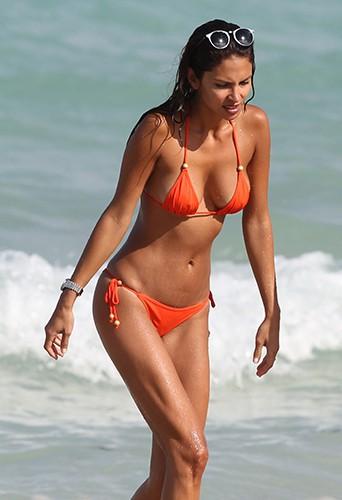 Camila Morais da Paz à Miami le 19 avril 2014