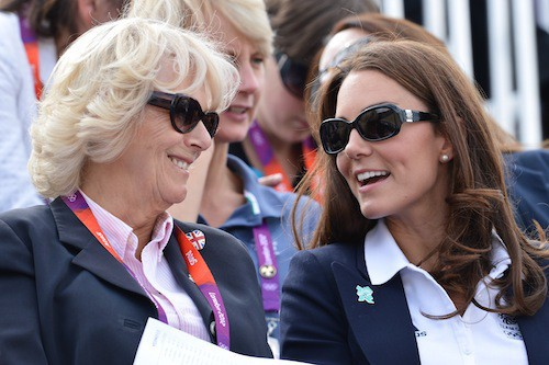 Camilla Parker Bowles et Kate Middleton complices en 2012 lors du Cross Country