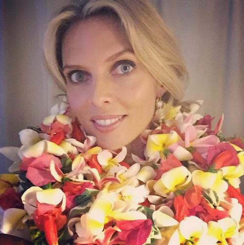 Sylvie Tellier à Tahiti