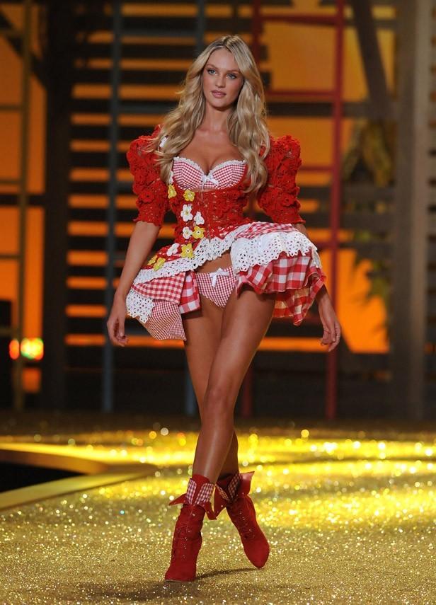 Candice Swanepoel, l'une des ambassadrices de la marque de lingerie américaine Victoria's Secret.