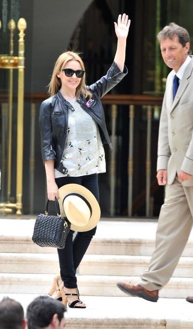 Visiblement, Kylie est enchantée d'être à Cannes