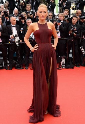 Blake Lively en Gucci pour la première montée des marches du 67ème festival de Cannes