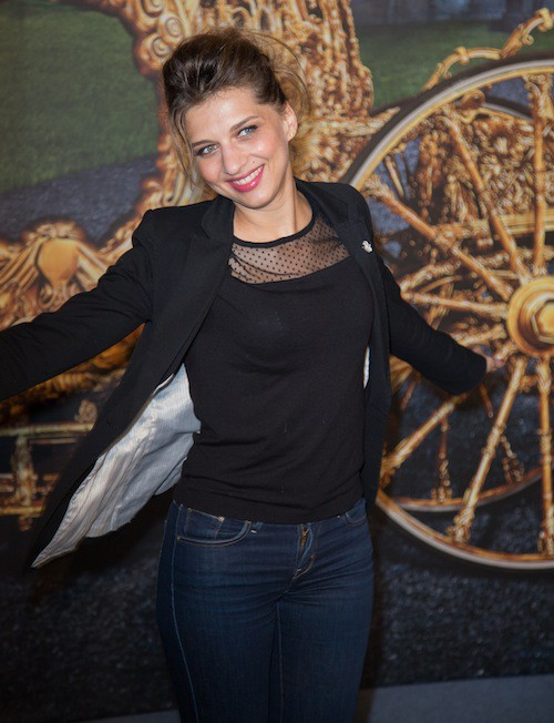 Amandine Bourgeois à l'avant-première de Cendrillon à Paris, le 22 mars 2015