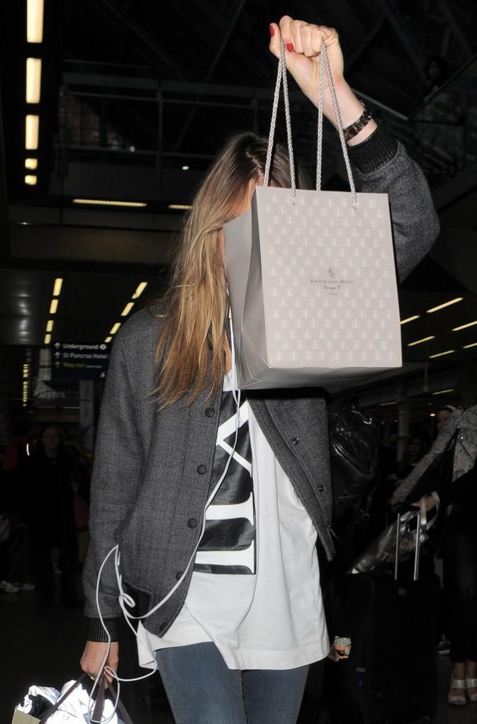 Cara Delevingne à Londres le 2 octobre 2014