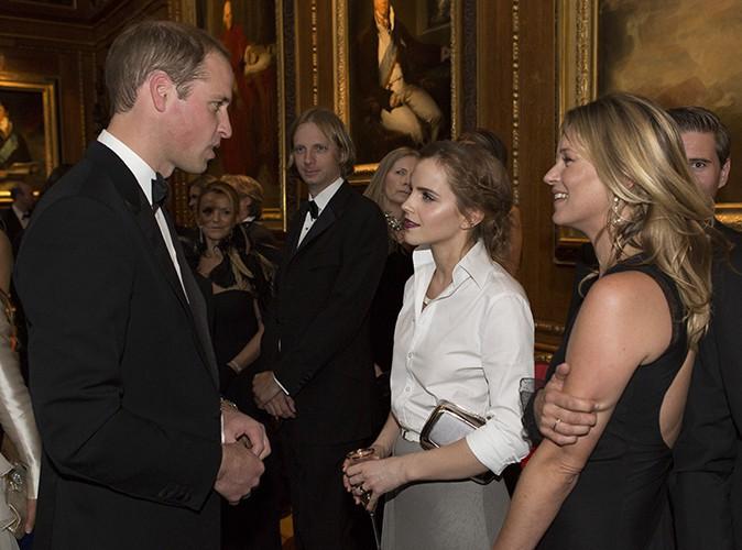 Le Prince William, Emma Watson et Kate Moss à Windsor le 13 mai 2014