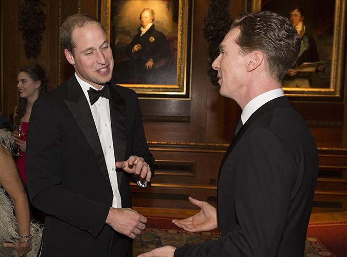 Le Prince William et Benedict Cumberbatch à Windsor le 13 mai 2014