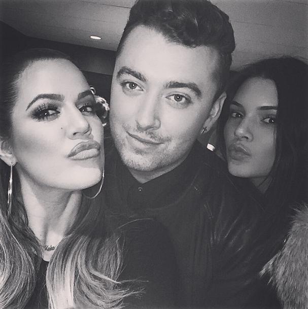 Khloe Kardashian, Kendall Jenner et Sam Smith le 29 janvier 2015