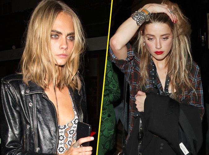 Photos : Cara Delevingne et Amber Heard : ça fricotte à Londres !
