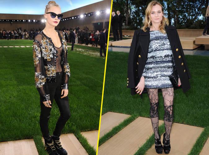 Cara Delevingne et Diane Kruger... Boule de poils et jolie dentelle au rendez-vous pour le défilé Chanel !