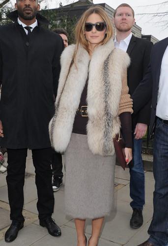 Olivia Palermo à Londres le 17 février 2014
