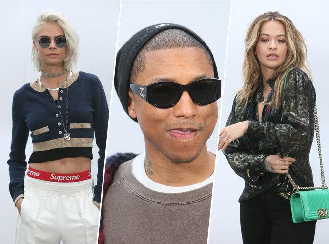 Cara Delevingne, Pharrell Williams, Rita Ora... Toutes les stars présentes au défilé Chanel !