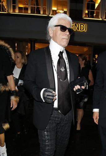 Karl Lagerfeld à Londres le 1er mai 2014