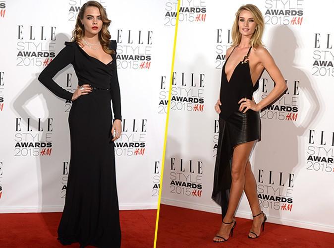 Cara Delevingne vs Rosie Huntington-Whiteley : duel de bombes sacrées aux ELLE Style Awards !