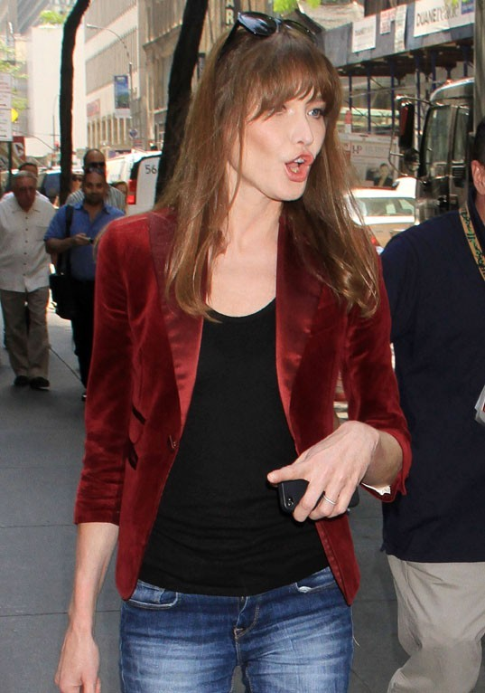 Carla Bruni à son arrivée au Today Show à New-York le 25 juin 2013