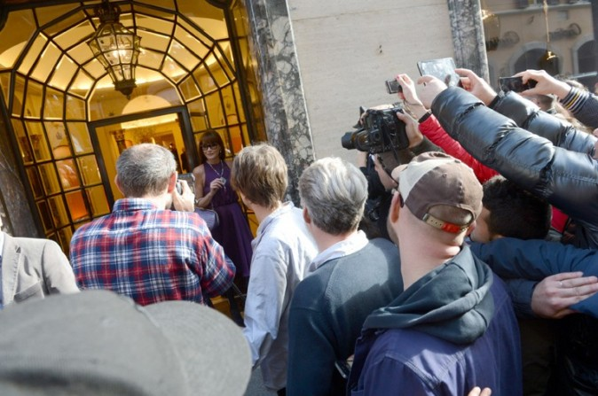 Carla Bruni à Rome pour un shooting avec Terry Richardson le 19 mars 2013