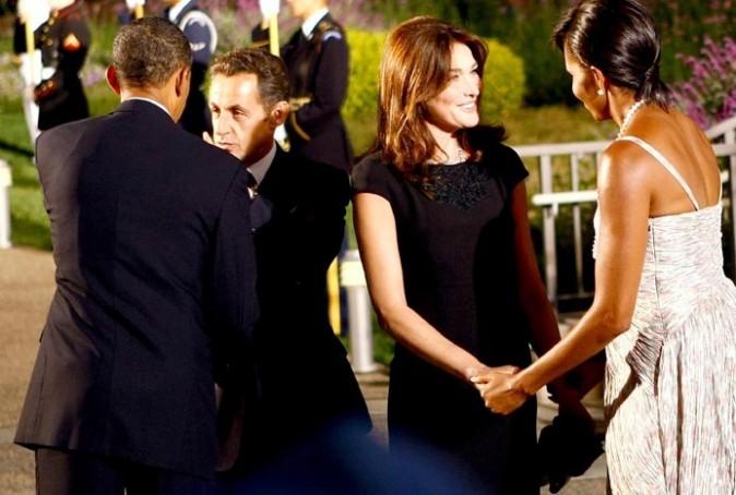 Avec le couple Obama