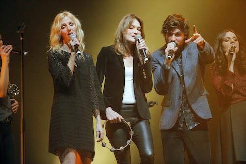 Sandrine Kiberlain, Carla Bruni et Gaël Faure au gala pour la recherche sur Alzheimer
