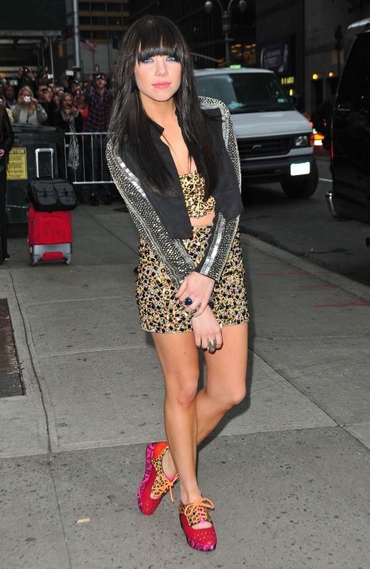 Carly Rae Jepsen le 25 octobre 2012 à New York
