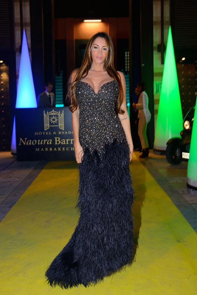 Nabilla Benattia à Marrakech le 6 décembre 2013